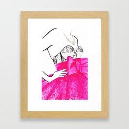 Watercolour Fashion Illustration Titled Les Bijoux Framed Art Print