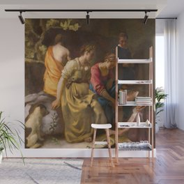 Johannes Vermeer - Diana and Her Companions Wall Mural