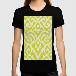 Chartreuse Ikat classic mid century T-shirt