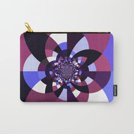 Purple Magenta Periwinkle Kaleidoscope Mangala Carry-All Pouch
