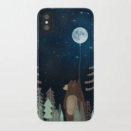 the moon balloon iPhone Case
