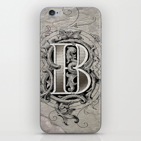monogram b iPhone & iPod Skin