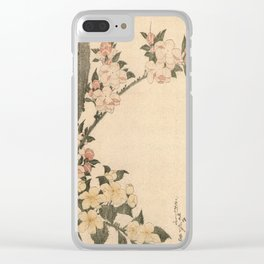 Hokusai, flowers of a cherry-tree- manga, japan,hokusai,japanese,北斎,ミュージシャン Clear iPhone Case