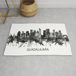 Guadalajara Mexico Skyline BW Rug