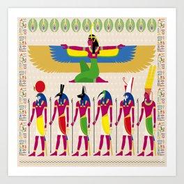 EYGPTIAN GODS Art Print