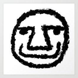 Minimalist Brush Stroke Face 006 Art Print