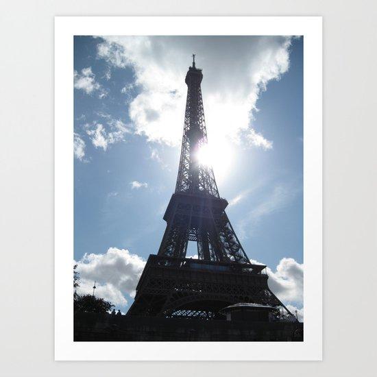 Eiffel Alight Art Print