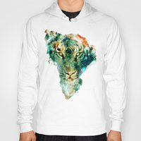 african Hoodies featuring African Wildlife by RIZA PEKER