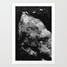 """Cellular Migration"" (Black & White - Dark) Digital Painting // Fine Art Print Art Print"