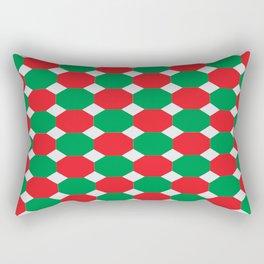Christmas Color Octagons Rectangular Pillow
