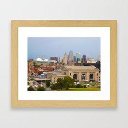 Union Station Kansas City Tilt Shift Color Photo Framed Art Print