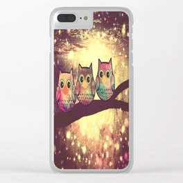 owl-246 Clear iPhone Case