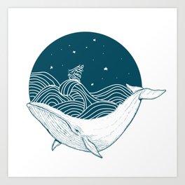 Whale dream Art Print