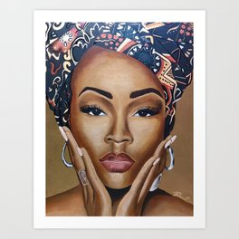 Brown Skin Art Print