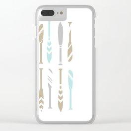 River OAR Ocean Clear iPhone Case