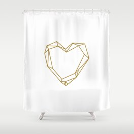 Graphic Heart Shower Curtain
