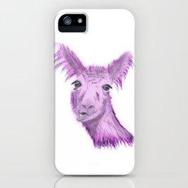 Pinky Posh Llama iPhone Case