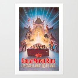 The Great Movie Ride Original Poster Art Print