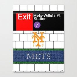 NYC Mets Subway Canvas Print