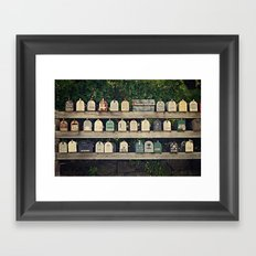 Mailboxes Framed Art Print