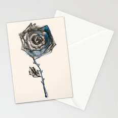 Royal Blue Rose Stationery Cards