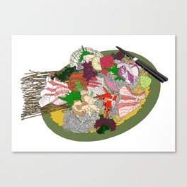 Gorgeous Sashimi Set from Mr Sasaki Canvas Print