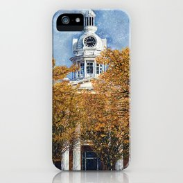 Courthouse in Autumn iPhone Case