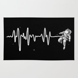 Space Heartbeat Rug