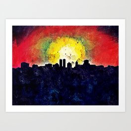 Skyline Peoria Art Print