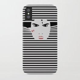 Peeking Man (Black) iPhone Case