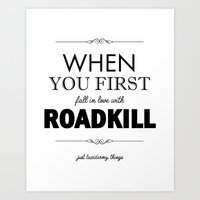 Just Taxidermy Things: Roadkill Art Print