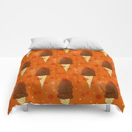 Chocolate Scoops Pattern Comforters