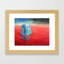 Fishin' on the Bank of the Red River Framed Art Print