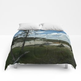 Firehole River And Geyser Area Comforters