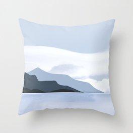 Calmness of Blue Throw Pillow