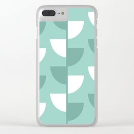 Pastel Green Slices in The Summer Shade Clear iPhone Case