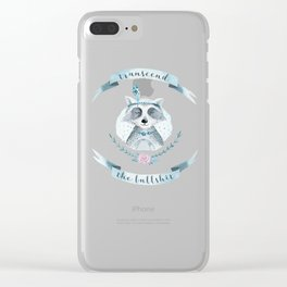 transcend the bullshit Clear iPhone Case