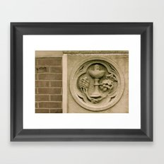 Brick and stone carving Framed Art Print