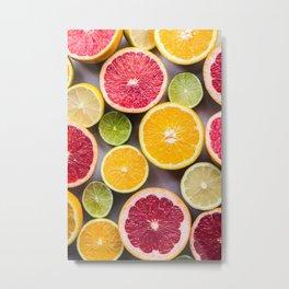 citrus #society6 #decor #buyart Metal Print