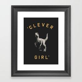 Clever Girl (Dark) Framed Art Print