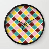 monroe Wall Clocks featuring Monroe by Dewi Gale