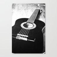 guitar Canvas Prints featuring Guitar by Falko Follert Art-FF77