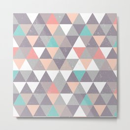 Peaceful Mountain Pattern Metal Print