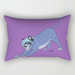 Sly Feline Rectangular Pillow