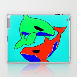 The glaring whales Laptop & iPad Skin