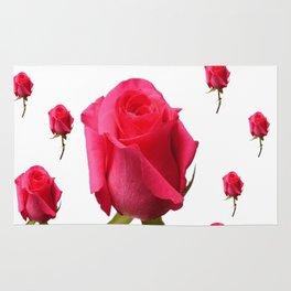 SCATTERED PINK ROSE BUDS FLOWERS Rug