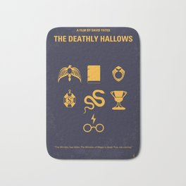 No101-7 My HP - DEATHLY HALLOWS minimal movie poster Bath Mat