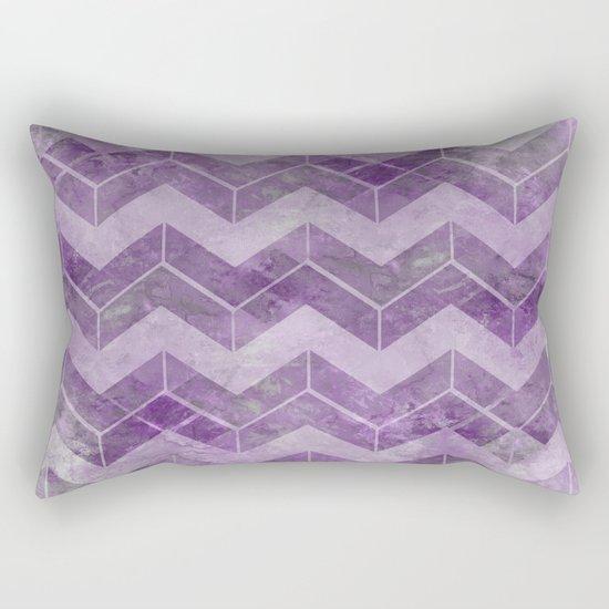 Chevron pattern, watercolors purple Rectangular Pillow
