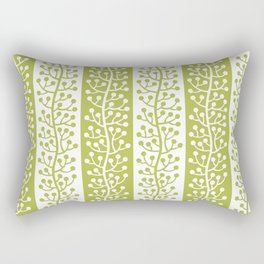 Mid Century Modern Berry Vine Stripes Chartreuse Rectangular Pillow