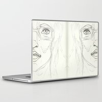 glasses Laptop & iPad Skins featuring Glasses by writingoverashes
